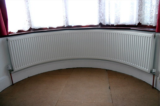 A range of curved radiators custom designed to fit your for Curved bay window